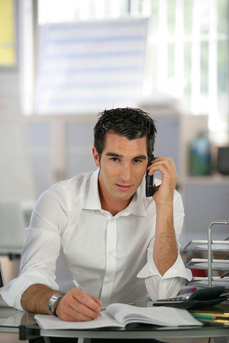 Recruiter having phone call