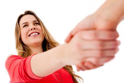 Casual handshake