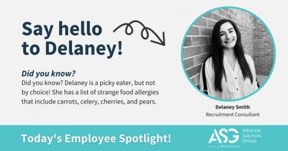 Delaney Smith ASG Employee Spotlight