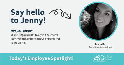 Jenny is a Recruitment Consultant in our Skilled Manufacturing practice area.